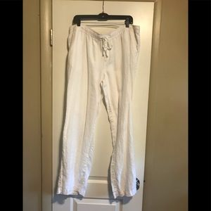 White Linen Pants XL